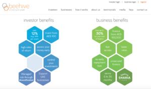 Beehive homepage