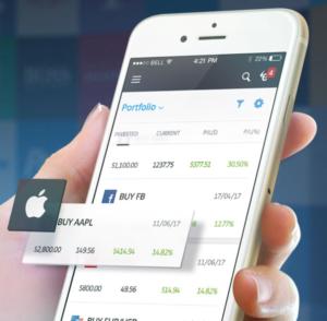 eToro mobile app