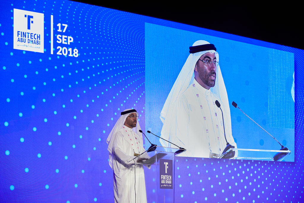 H.E Ahmed Al Sayegh, Minister of State and Chairman of ADGM at Fintech Abu Dhabi Summit 2018