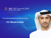 His Excellency Wesam Lootah to Present Keynote at IDC Middle East CIO Summit 2019 in Dubai