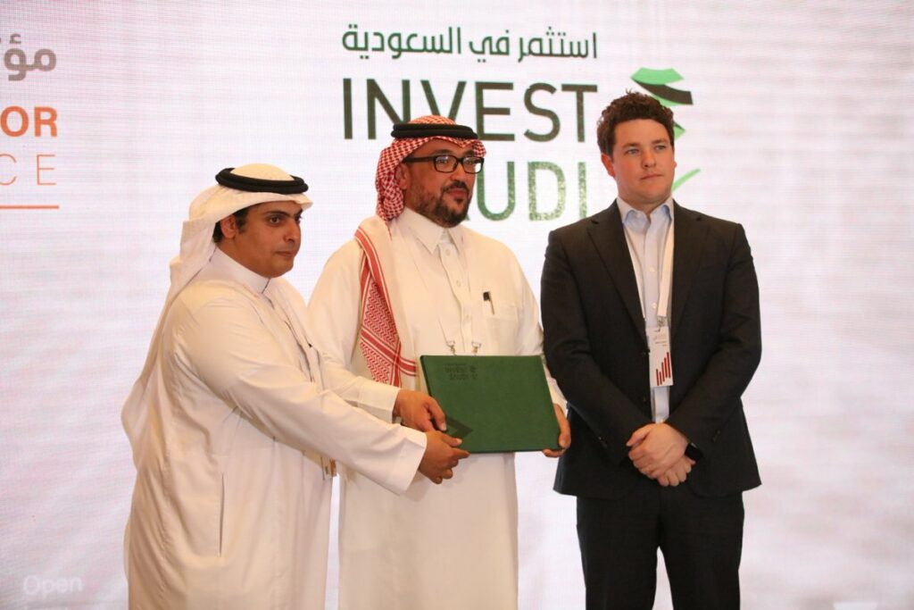 More than 20 firms have signed agreements under the VENTURE by Invest Saudi platform, Financial Sector Conference 2019, by SaudiFSC, via Twitter
