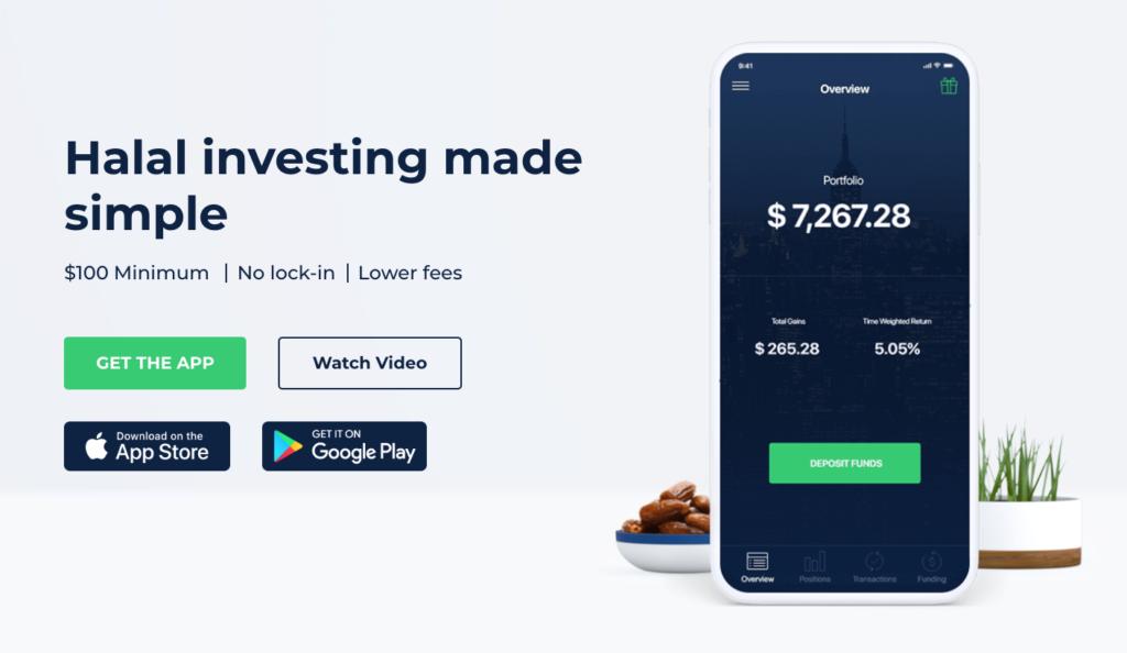 Wahed homepage, wahedinvest.com