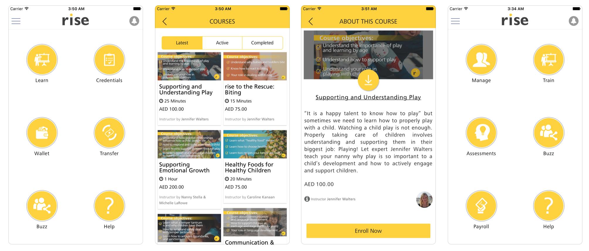 Rise iOS app screenshots, App Store